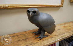 Tom Van Sant - A bronze sculpture of an Owl, Original bronze sculpture for sale, bronze wildlife sculpture, CaliforniaWatercolor.com