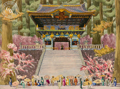 Vietnamese Temple, California art by Tom Van Sant. HD giclee art prints for sale at CaliforniaWatercolor.com - original California paintings, & premium giclee prints for sale