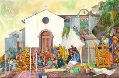Morning of the Angels, Lake Patzcuaro, California art by Tony Sheets. HD giclee art prints for sale at CaliforniaWatercolor.com - original California paintings, & premium giclee prints for sale