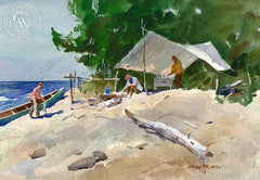 A Good Fish Supper, California art by Vernon Nye. HD giclee art prints for sale at CaliforniaWatercolor.com - original California paintings, & premium giclee prints for sale
