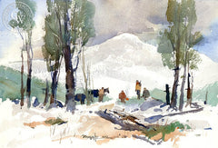The Hunting Party, California art by Vernon Nye. HD giclee art prints for sale at CaliforniaWatercolor.com - original California paintings, & premium giclee prints for sale