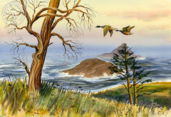 Migration, California art by Vic de Beck. HD giclee art prints for sale at CaliforniaWatercolor.com - original California paintings, & premium giclee prints for sale