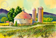 Springtime Wisconsin, California art by Vic de Beck. HD giclee art prints for sale at CaliforniaWatercolor.com - original California paintings, & premium giclee prints for sale