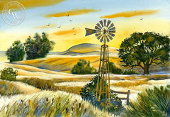 Summertime Sonoma, California art by Vic de Beck. HD giclee art prints for sale at CaliforniaWatercolor.com - original California paintings, & premium giclee prints for sale