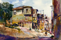 Victor Czerkas - L.A. Street - California art - fine art print for sale, giclee watercolor print - Californiawatercolor.com