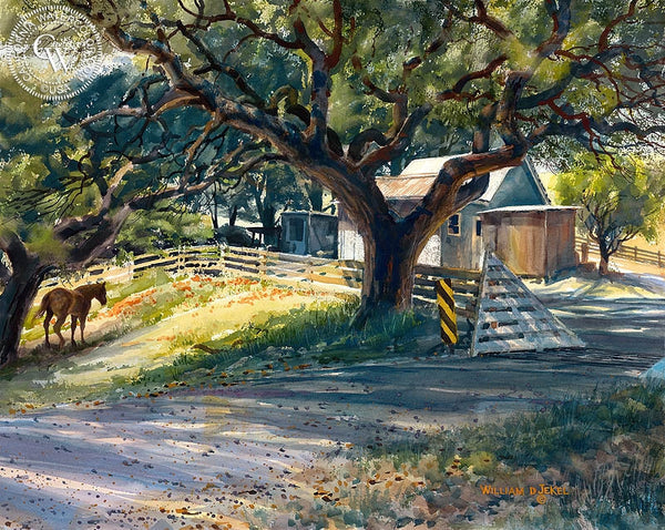 William Jekel - Noon Day Sun, California art, original California watercolor art for sale - CaliforniaWatercolor.com