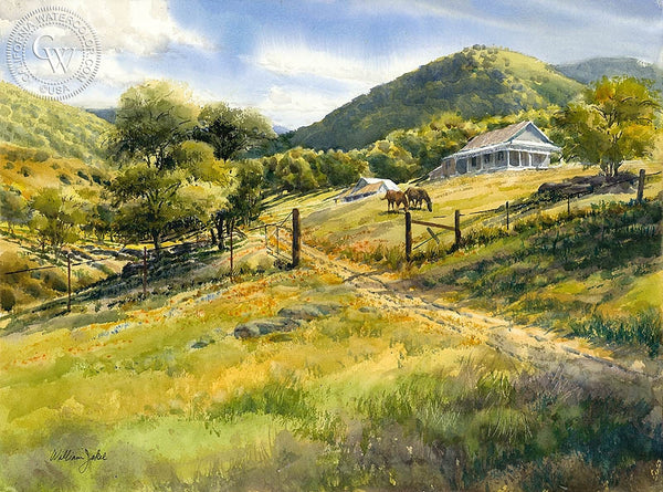 William Jekel - Grazing Horses - California art - Californiawatercolor.com