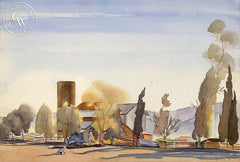 Ben Norris - Desert Ranch II, 1933, California art, original California watercolor art for sale - CaliforniaWatercolor.com