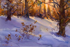 Winter Sunset, California art by Frank LaLumia. HD giclee art prints for sale at CaliforniaWatercolor.com - original California paintings, & premium giclee prints for sale