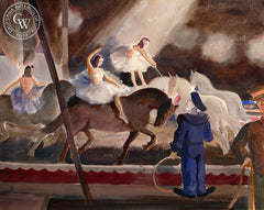 The Circus, 1941, California art by Frederick Penney. HD giclee art prints for sale at CaliforniaWatercolor.com - original California paintings, & premium giclee prints for sale