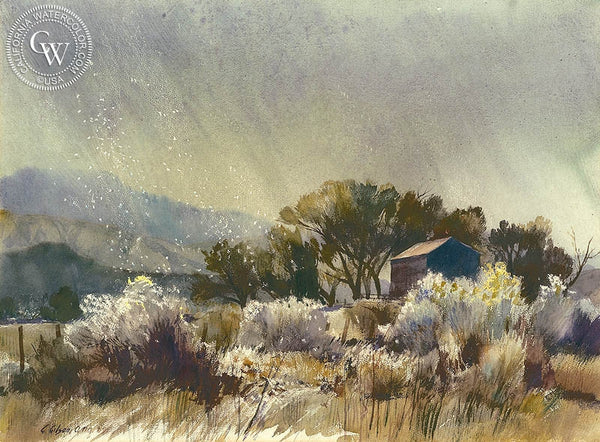 George Gibson - Remote, 1969, California art, original California watercolor art for sale - CaliforniaWatercolor.com