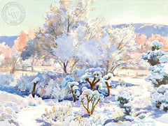Snow and Ice, California art by Glen Knowles. HD giclee art prints for sale at CaliforniaWatercolor.com - original California paintings, & premium giclee prints for sale