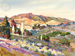 Solidad Sunrise, California art by Glen Knowles. HD giclee art prints for sale at CaliforniaWatercolor.com - original California paintings, & premium giclee prints for sale
