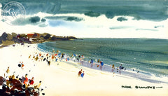 Silver Strand, 1976, California art by Hardie Gramatky. HD giclee art prints for sale at CaliforniaWatercolor.com - original California paintings, & premium giclee prints for sale