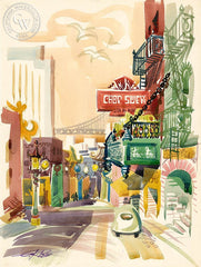 Chop Suey, 1963, California art by Ken Potter. HD giclee art prints for sale at CaliforniaWatercolor.com - original California paintings, & premium giclee prints for sale