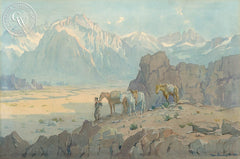 Desert Gold, c. 1920's, California art by Marion Wachtel. HD giclee art prints for sale at CaliforniaWatercolor.com - original California paintings, & premium giclee prints for sale