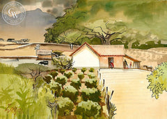 Estoncia de Colima, 1976, California art by Milford Zornes. HD giclee art prints for sale at CaliforniaWatercolor.com - original California paintings, & premium giclee prints for sale