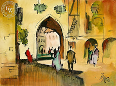 Europe, 1996, California art by Milford Zornes. HD giclee art prints for sale at CaliforniaWatercolor.com - original California paintings, & premium giclee prints for sale