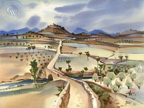 Lands of Spain, 1964, California art by Milford Zornes. HD giclee art prints for sale at CaliforniaWatercolor.com - original California paintings, & premium giclee prints for sale