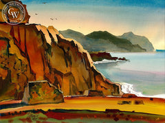 Point Dana, 1991, California art by Milford Zornes. HD giclee art prints for sale at CaliforniaWatercolor.com - original California paintings, & premium giclee prints for sale