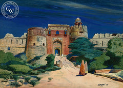 Purana Kila, India, 1943, California art by Milford Zornes. HD giclee art prints for sale at CaliforniaWatercolor.com - original California paintings, & premium giclee prints for sale