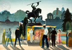 San Diego Exposition, 1935, California art by Milford Zornes. HD giclee art prints for sale at CaliforniaWatercolor.com - original California paintings, & premium giclee prints for sale