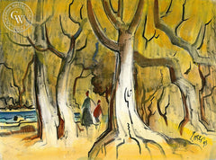 Trees, 1995, California art by Milford Zornes. HD giclee art prints for sale at CaliforniaWatercolor.com - original California paintings, & premium giclee prints for sale