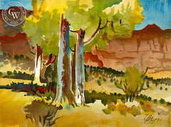 Utah, 1990, California art by Milford Zornes. HD giclee art prints for sale at CaliforniaWatercolor.com - original California paintings, & premium giclee prints for sale