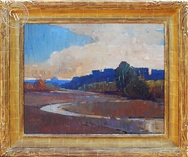 Millard Sheets - L.A. River, 1927, an original California oil painting for sale, original California art for sale - CaliforniaWatercolor.com