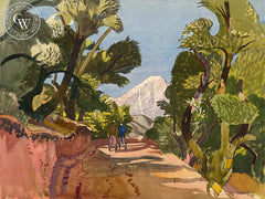 Padua Hills, Claremont, c. 1940's, California art by Millard Sheets. HD giclee art prints for sale at CaliforniaWatercolor.com - original California paintings, & premium giclee prints for sale