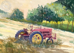 Cambria Tractor, California art by Steve Santmyer. HD giclee art prints for sale at CaliforniaWatercolor.com - original California paintings, & premium giclee prints for sale