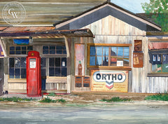 Ortho, Waimea, Hawaii, California art by Steve Santmyer. HD giclee art prints for sale at CaliforniaWatercolor.com - original California paintings, & premium giclee prints for sale