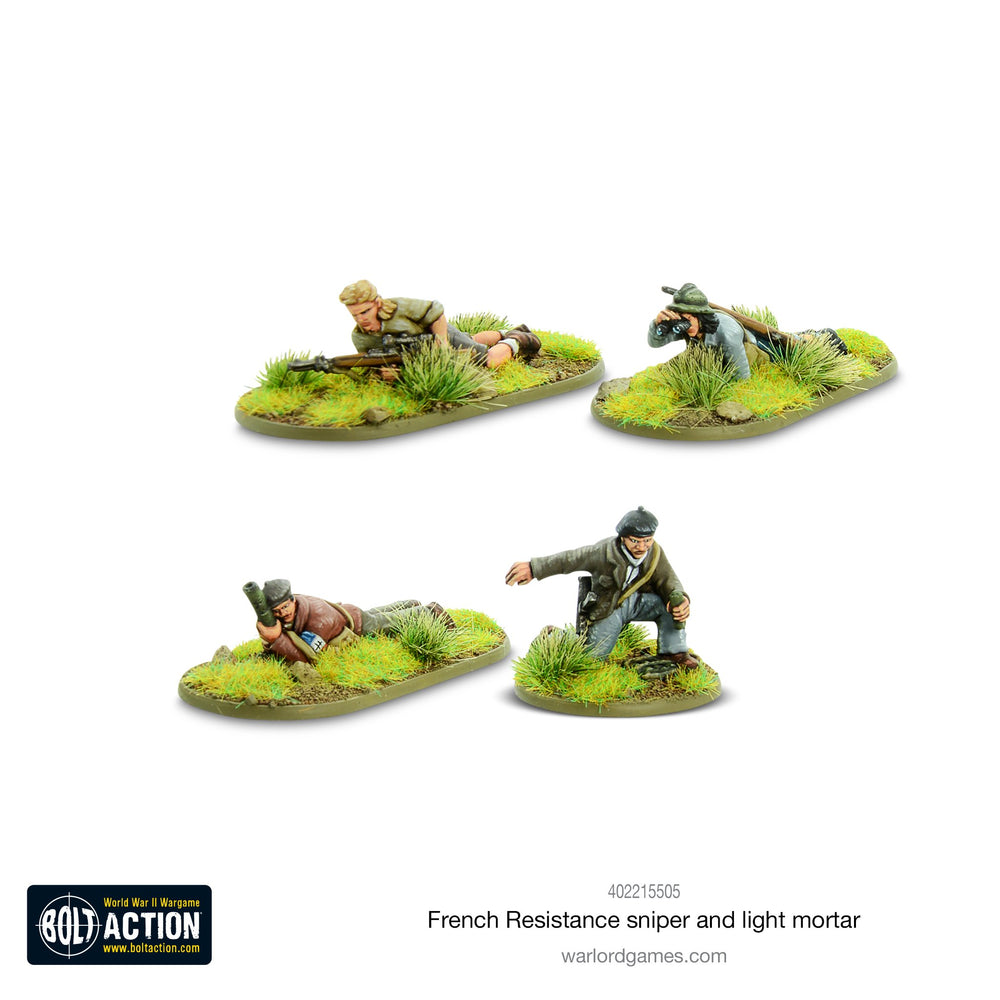 Bolt Action: French Resistance Sniper and Light Mortar Teams