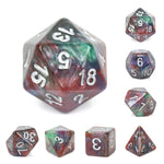 RED+GREEN+BLUE MARBLE DICE SET