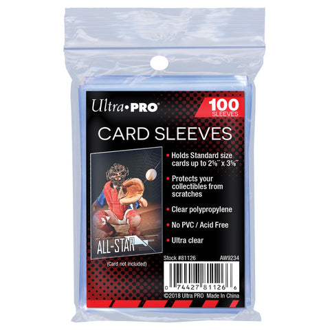 "1,000 ULTRA PRO: SOFT SLEEVE ""PENNY SLEEVES""- (100CT X 10) 81126"
