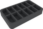 45 MM HALF-SIZE FOAM TRAY WITH 12 COMPARTMENTS