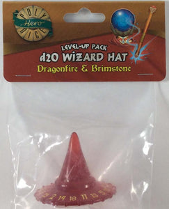 PolyHero D20 Wizard Hat: Dragonfire with Brimstone