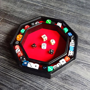 Geeky Villain: Octagon Dice Storage and Rolling Tray