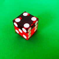Seriallized Casino Dice 19mm (Red) (Set of 5)