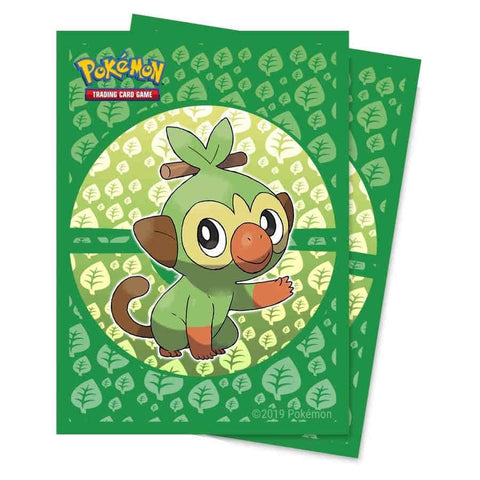 ULTRA PRO: POKEMON DECK PROTECTOR - SWORD AND SHIELD: GALAR STARTERS - GROOKEY STANDARD 65CT