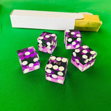 Seriallized Casino Dice 19mm (Purple) (Set of 5)