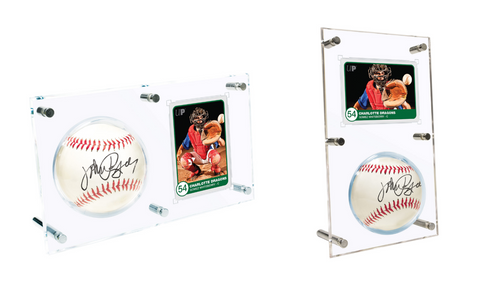 ULTRA PRO: BALL AND CARD DISPLAY - CLEAR FLIP
