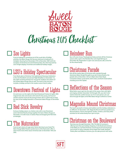 "Christmas ""Baton Rouge"" Checklist"