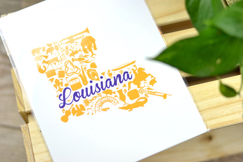 Painted Post Studio Louisiana Landmark Prints sold on Etsy