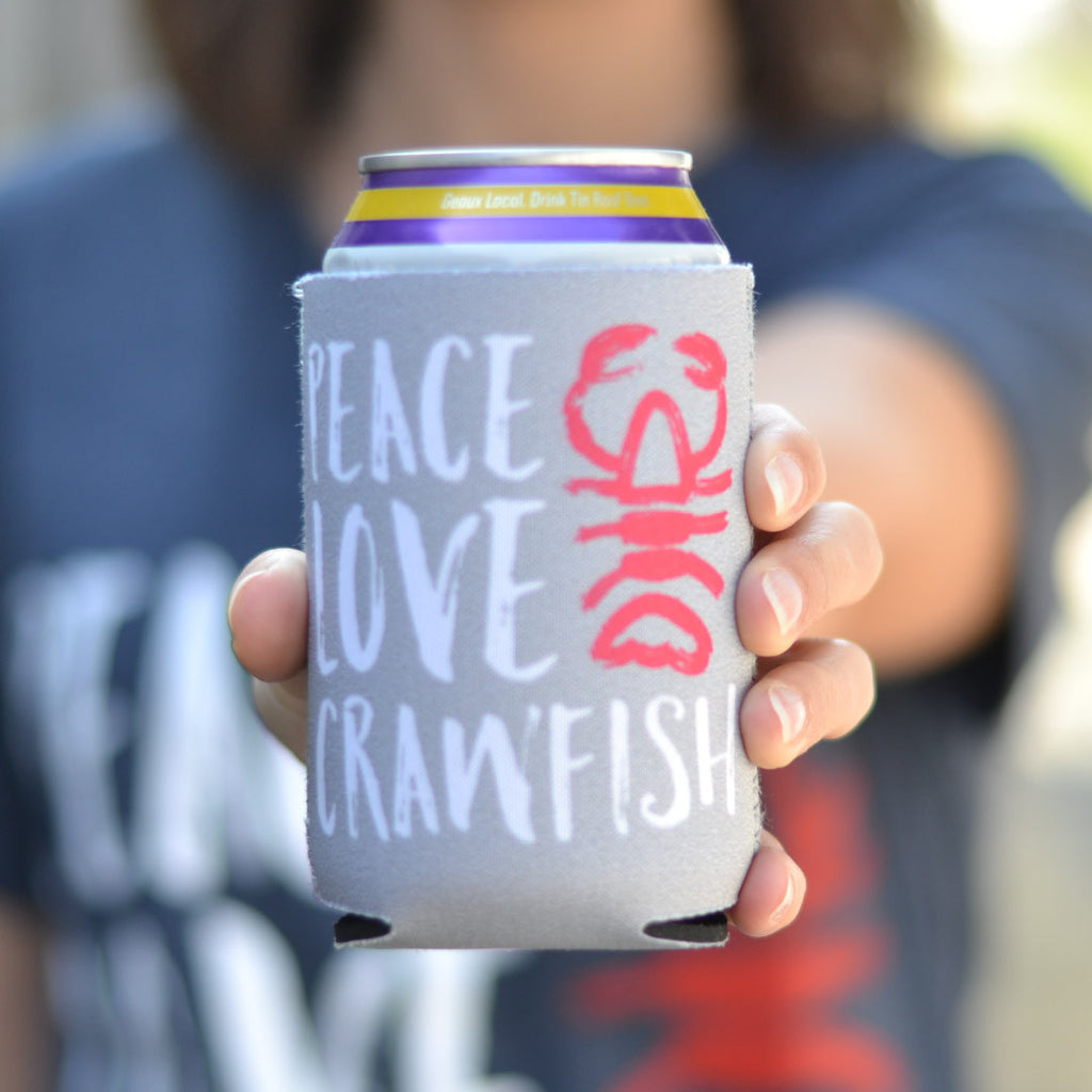 Peace Love Crawfish Can Cooler by SFT