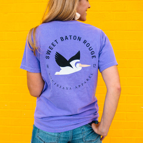 Sweet Baton Rouge Tee with Petey the Pelican