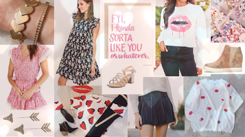 Clothing and accessory styles for Valentine's Day