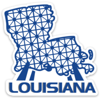 Spaceship Louisiana sticker