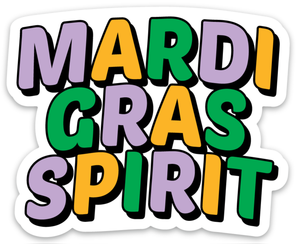 Mardi Gras Spirit© | Sticker