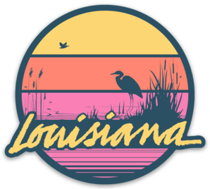 Louisiana Sunset Magnet